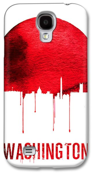 Washington Skyline Red Galaxy S4 Case by Naxart Studio