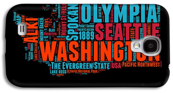 Washington Word Cloud Map 1 Galaxy S4 Case by Naxart Studio