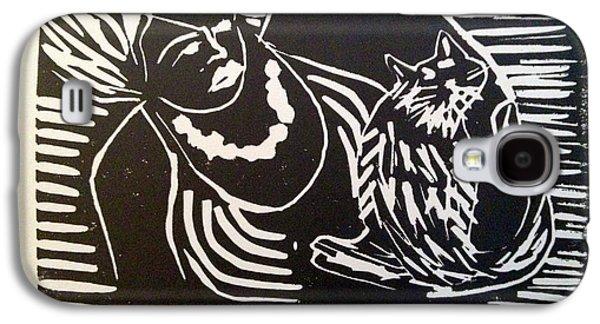 Watch Cat Galaxy S4 Case by Toby Finkelstein