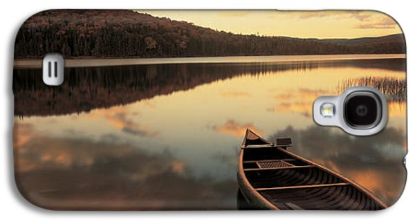 Contemplative Photographs Galaxy S4 Cases - Water And Boat, Maine, New Hampshire Galaxy S4 Case by Panoramic Images