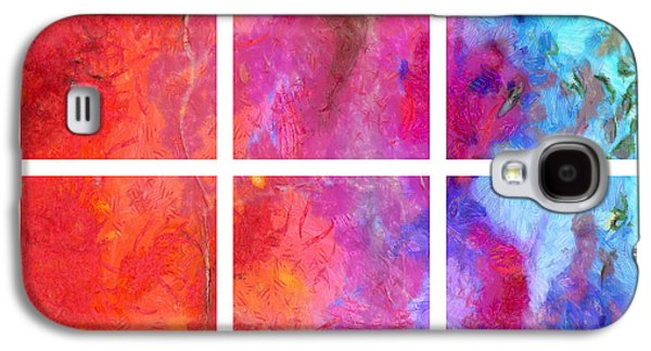 Merging Galaxy S4 Cases - Water and Fire Abstract Galaxy S4 Case by Edward Fielding