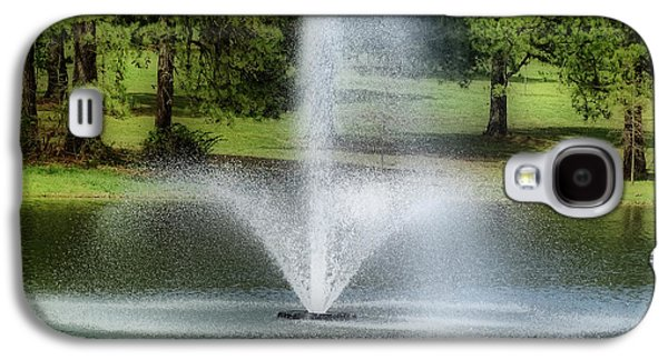 Spring Scenery Galaxy S4 Cases - Water Fountain Galaxy S4 Case by Sandy Keeton