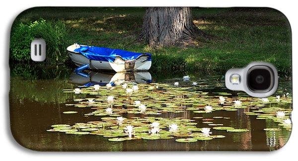 White River Scene Galaxy S4 Cases - Water Lilies Galaxy S4 Case by Aidan Moran