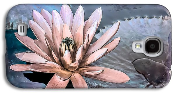 Photorealistic Galaxy S4 Cases - Water Lily Vintage Art Galaxy S4 Case by Julie Palencia