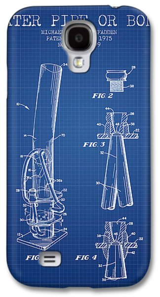 Weed Digital Galaxy S4 Cases - Water Pipe or Bong Patent 1975 - Blueprint Galaxy S4 Case by Aged Pixel