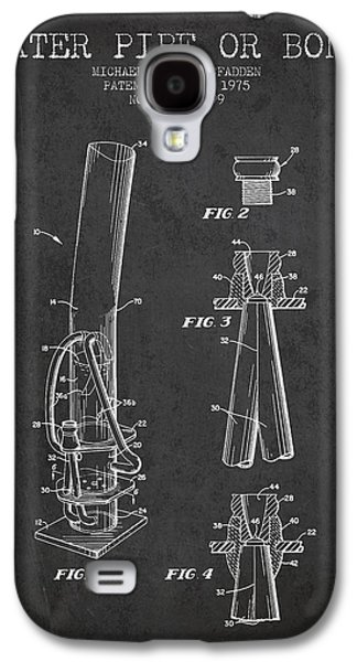 Water Pipe Or Bong Patent 1975 - Charcoal Galaxy S4 Case by Aged Pixel