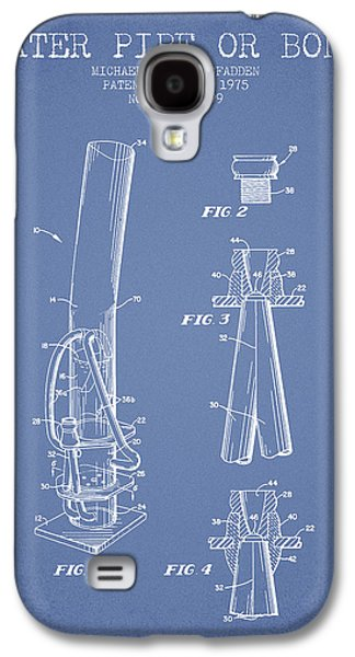 Weed Digital Galaxy S4 Cases - Water Pipe or Bong Patent 1975 - Light Blue Galaxy S4 Case by Aged Pixel