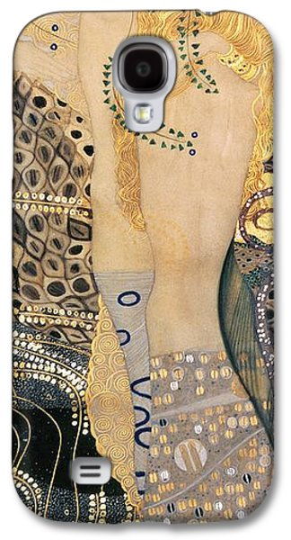Sisters Galaxy S4 Cases - Water Serpents I Galaxy S4 Case by Gustav klimt
