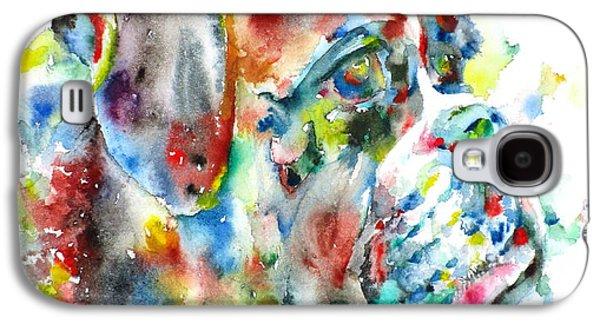 Boxer Galaxy S4 Cases - Watercolor Boxer Galaxy S4 Case by Fabrizio Cassetta