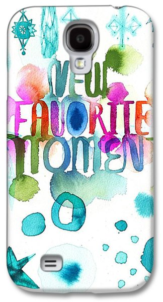 Colorful Abstract Galaxy S4 Cases - Watercolor New Favorite Item Lettering Galaxy S4 Case by Gillham Studios