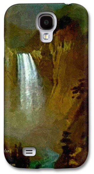 Abstract Digital Pastels Galaxy S4 Cases - Waterfall Dream In The Old Style H A Galaxy S4 Case by Gert J Rheeders