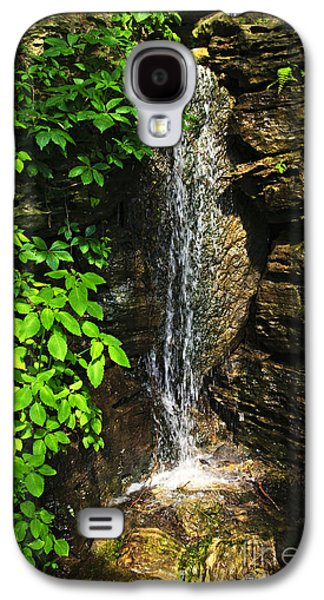 Geology Photographs Galaxy S4 Cases - Waterfall in forest Galaxy S4 Case by Elena Elisseeva