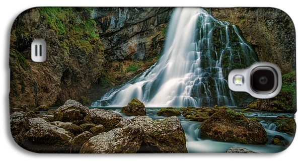 Water Filter Galaxy S4 Cases - Waterfall Galaxy S4 Case by Martin Podt