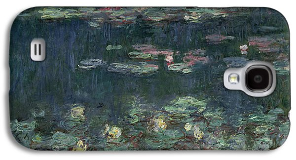 Waterlilies Green Reflections Galaxy S4 Case by Claude Monet