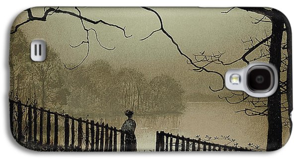 Gloaming Galaxy S4 Cases - Waterloo Lake Roundhay Park Leeds Galaxy S4 Case by John Atkinson Grimshaw