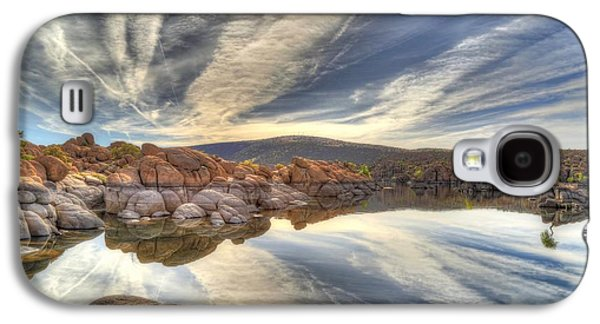 Watson Lake Reflections Galaxy S4 Case by Donna Kennedy