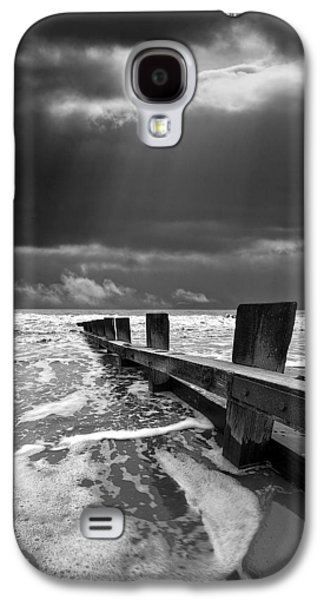 Dramatic Galaxy S4 Cases - Wave Defenses Galaxy S4 Case by Meirion Matthias