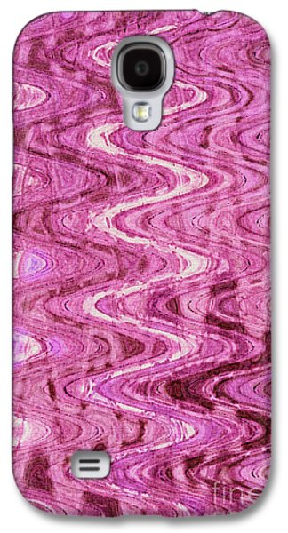 Abstract Digital Tapestries - Textiles Galaxy S4 Cases - Waves Magenta Galaxy S4 Case by FabricWorks Studio