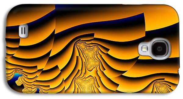 Fractal Image Galaxy S4 Cases - Waves of Grain Galaxy S4 Case by Ron Bissett