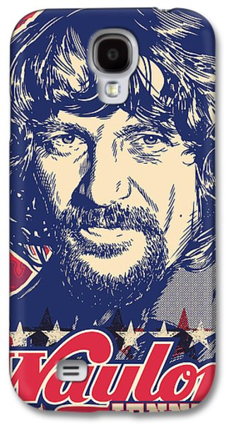 Pop Music Galaxy S4 Cases - Waylon Jennings Pop Art Galaxy S4 Case by Jim Zahniser