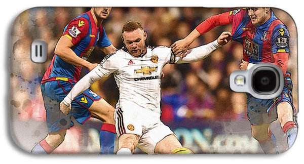 Wayne Rooney Shoots At Goal Galaxy S4 Case by Don Kuing