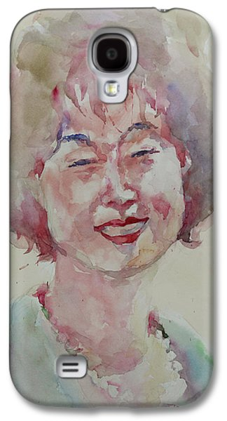 Wc Portrait 1627 My Sister Hyunju Galaxy S4 Case by Becky Kim
