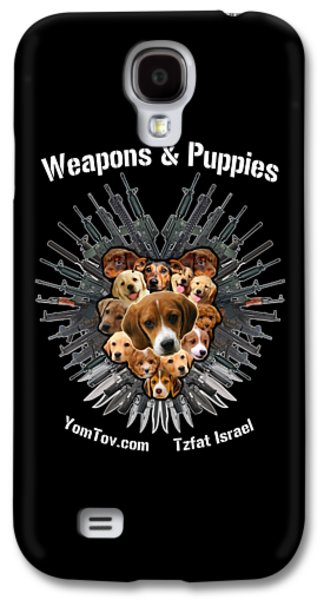 Recently Sold -  - Dogs Digital Galaxy S4 Cases - Weapons And Puppies Galaxy S4 Case by Yom Tov