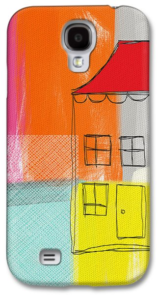 Colorful Abstract Mixed Media Galaxy S4 Cases - Weekend Escape Galaxy S4 Case by Linda Woods