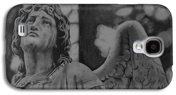 Religious Drawings Galaxy S4 Cases - The Weeping Angel Galaxy S4 Case by John Wood
