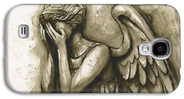 Weeping Galaxy S4 Cases - Weeping Angel Galaxy S4 Case by Olga Shvartsur