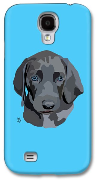 Puppies Digital Galaxy S4 Cases - Weimaraner Galaxy S4 Case by Ian Mutton