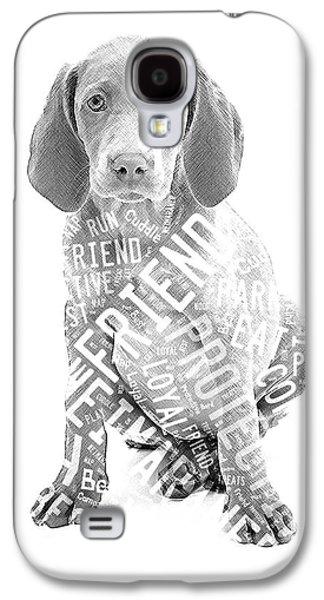 Weimaraner Portrait Galaxy S4 Case by Marvin Blaine