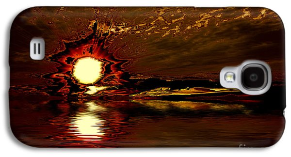 Beach Landscape Galaxy S4 Cases - Welcome Beach Sunset 2 Series 1 Galaxy S4 Case by Elaine Hunter
