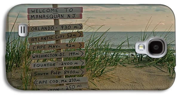 Signed Galaxy S4 Cases - Welcome to Manasquan Galaxy S4 Case by Robert Pilkington