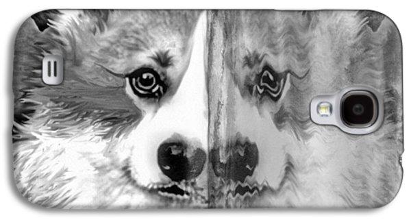 Digital Glass Galaxy S4 Cases - Welsh Corgi Ice Mirror Galaxy S4 Case by Kathy Kelly