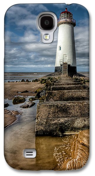 Beach Landscape Digital Galaxy S4 Cases - Welsh Lighthouse  Galaxy S4 Case by Adrian Evans