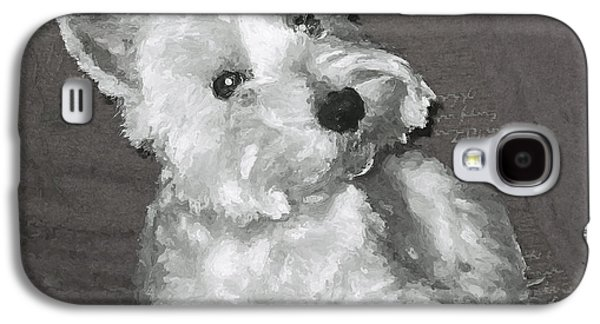 Westie Digital Galaxy S4 Cases - West Highland White Terrier Galaxy S4 Case by Charmaine Zoe