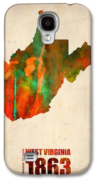 West Digital Art Galaxy S4 Cases - West Virginia Watercolor Map Galaxy S4 Case by Naxart Studio