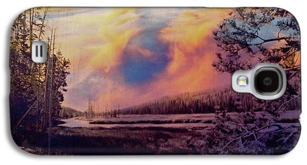 Landscapes Glass Art Galaxy S4 Cases - Western Sky Galaxy S4 Case by Mykel Davis