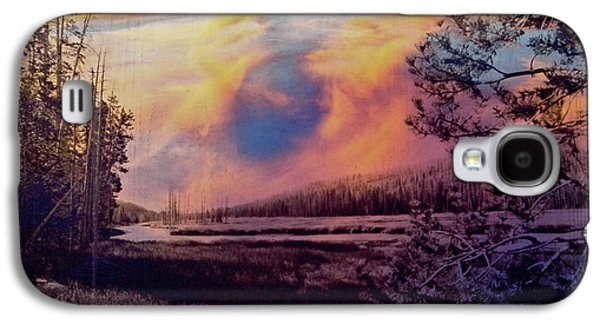 River Glass Galaxy S4 Cases - Western Sky Galaxy S4 Case by Mykel Davis