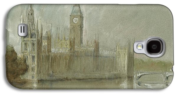 Westminster Palace And Big Ben London Galaxy S4 Case by Juan Bosco