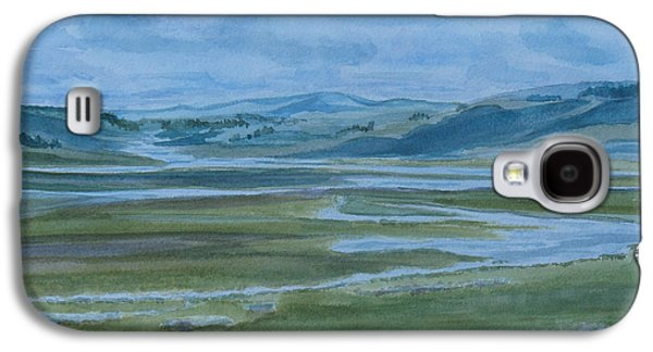 Wyoming Paintings Galaxy S4 Cases - Wet Summer in Big Sky Country Galaxy S4 Case by Jenny Armitage