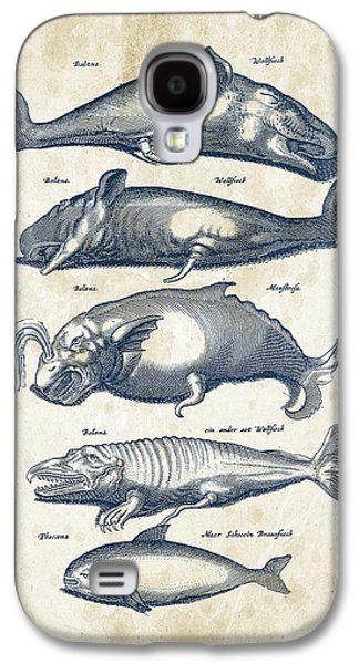 Dolphin Galaxy S4 Cases - Whale Historiae Naturalis 08 - 1657 - 41 Galaxy S4 Case by Aged Pixel