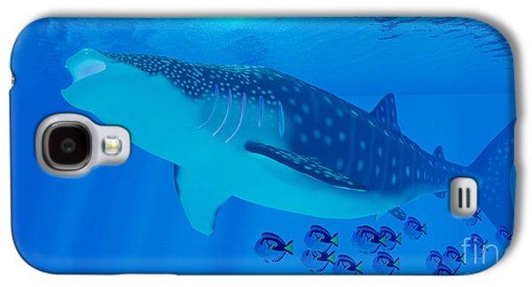 Whale Shark Feeding Galaxy S4 Case by Corey Ford