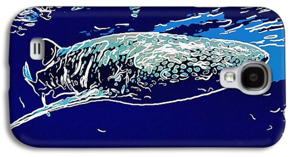 Plankton Paintings Galaxy S4 Cases - Whaleshark  Galaxy S4 Case by Lanjee Chee
