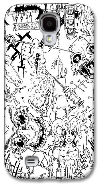 Photo Manipulation Drawings Galaxy S4 Cases - What A Mess Galaxy S4 Case by Jack Norton
