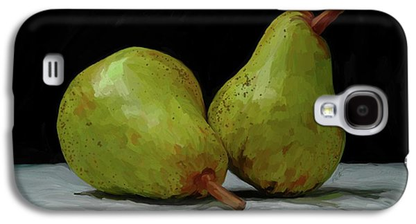 Pears Paintings Galaxy S4 Cases - What a Pair Galaxy S4 Case by Patti Siehien