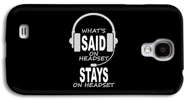 Celebrities Tapestries - Textiles Galaxy S4 Cases - Whats Said on Headset... Galaxy S4 Case by Jon Ares