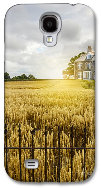 Quaint Photographs Galaxy S4 Cases - Wheat Field Galaxy S4 Case by Amanda And Christopher Elwell