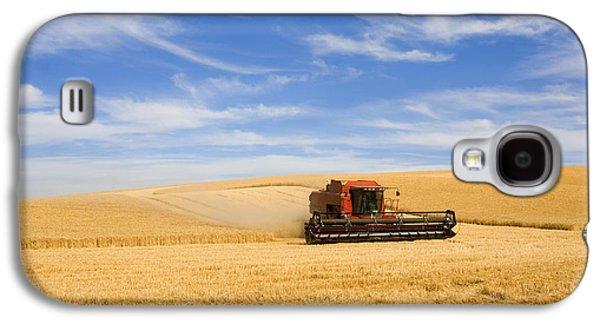 Wheat Harvest Galaxy S4 Case by Mike  Dawson